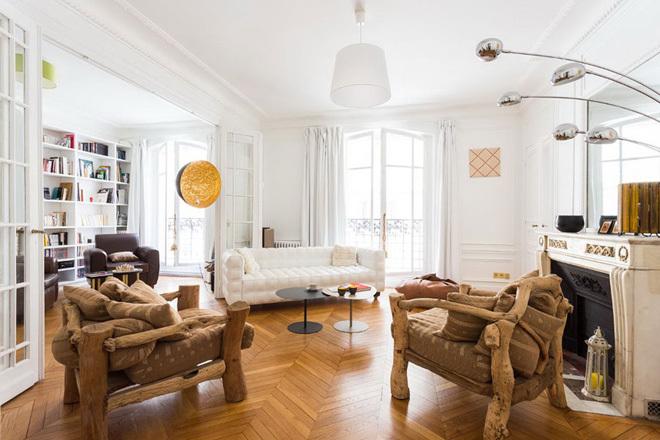 Nội thất hoang dã trong căn hộ thanh lịch ở Paris