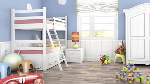 Chọn sàn gỗ cho phòng trẻ