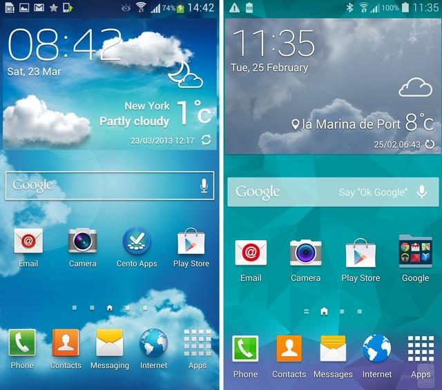 Sự khác biệt giữa giao diện TouchWiz mới và cũ