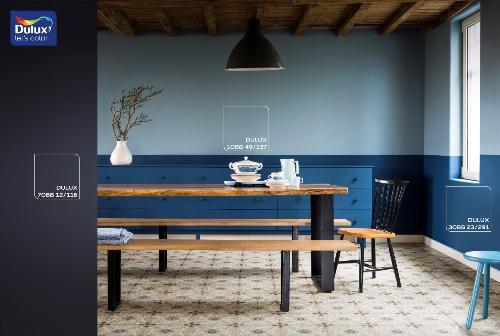 Cách sơn màu xanh dương hợp với căn phòng