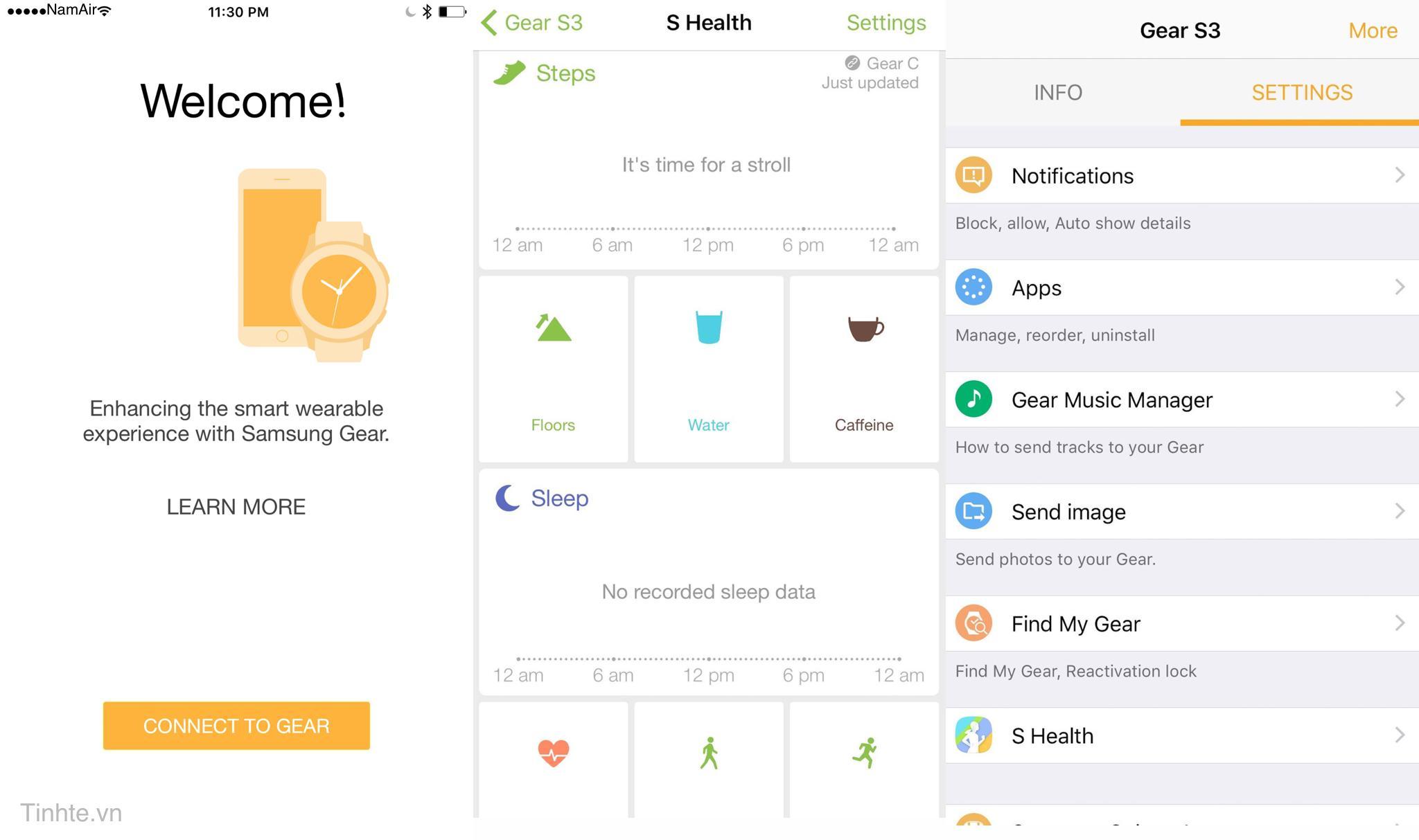 Gear S3/S2 đã có app chính thức cho iPhone